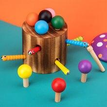 Деревянная игрушка, инструмент для захвата насекомых, цветная палка, детские развивающие игрушки
