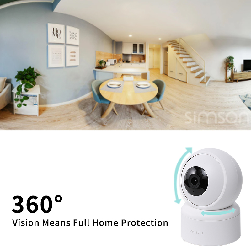 1080P HD Home Camera C20 APP WiFi Security Night Vision Camera Surveillance Baby Monitor H.265 Sound Detection Global Version 2