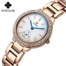 Роскошные брендовые новые женские часы wwoor с браслетом из