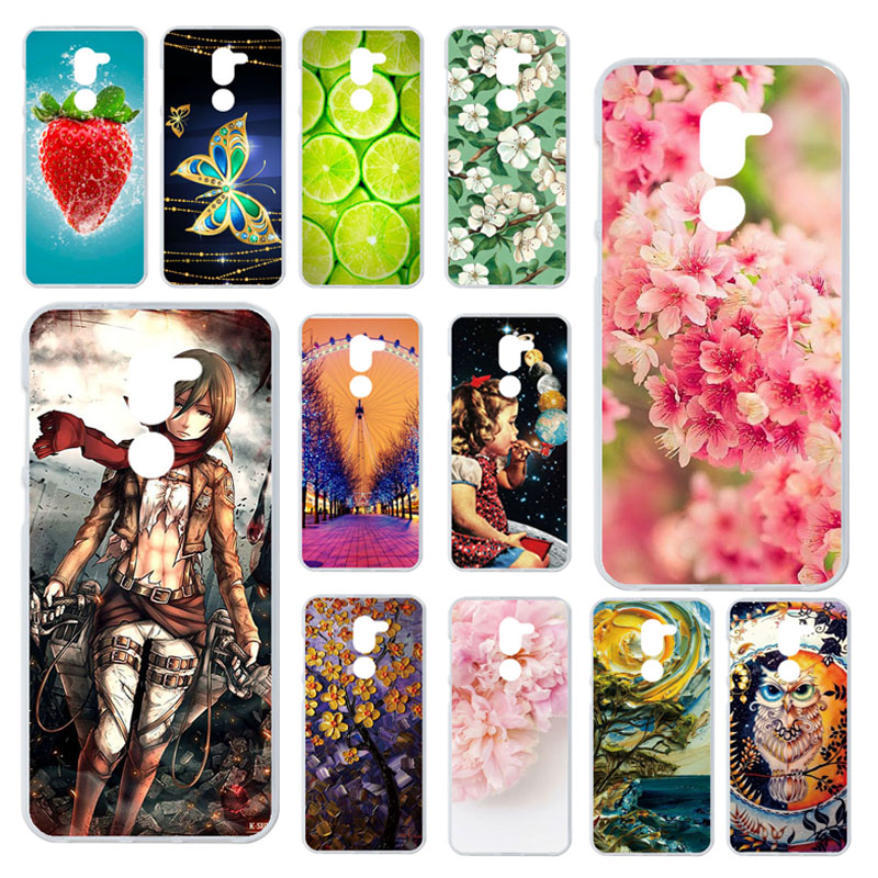 Phone Cases For Alcatel 3X 5058Y Case TPU Painted Silicone Covers For Alcatel 3x 5058Y 5.7 Inch Covers Fundas