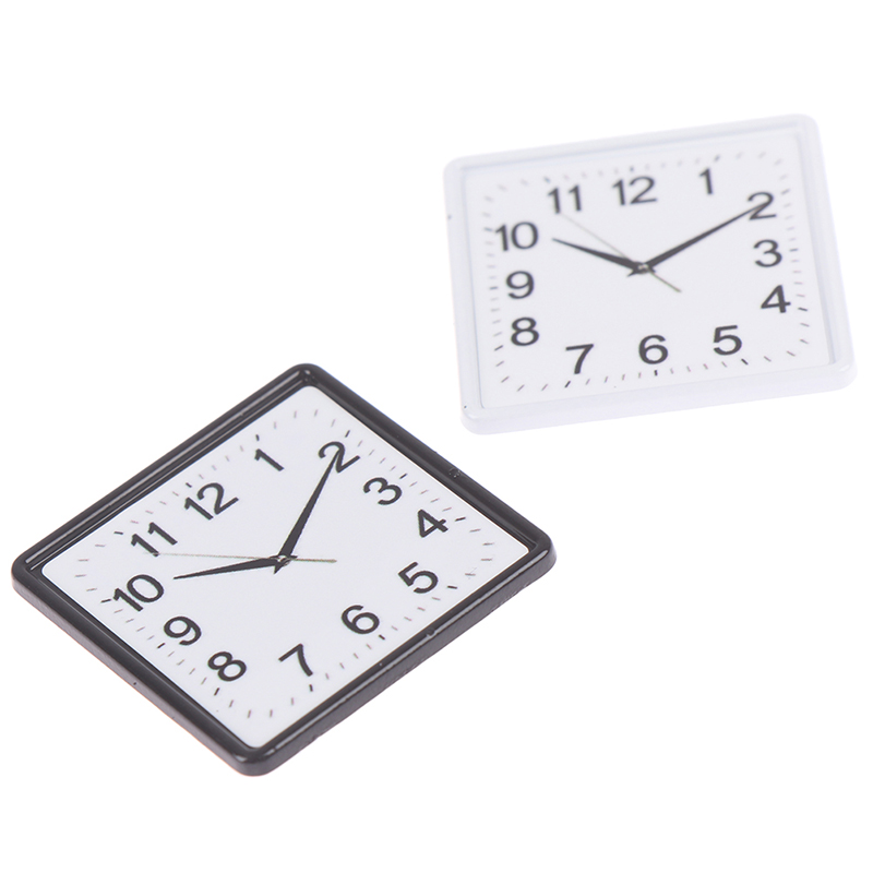 1:12 Scale Resin Dollhouse Miniature Wall Clock Play Doll House Miniaturas Home Decor Accessories Toy Pretend Furniture Toy