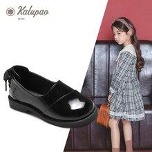 2019 ילדה סתיו נעל אחיד עור מפוצל בנות חתונה נעליים לילדים מבריק חמוד לוליטה יפני בית ספר נעליים שחור אדום לבן