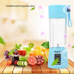 Electric Fruit Juicer USB Rechargeable Smoothie Maker Blender Machine Juicing Bottle Cup Mixer Vegetables Mixing Orange Juicer
