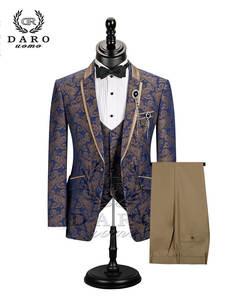 Red Blazer Jacket Suit Abiti Wedding-Prom Single-Button Black Slim Stylish for Men DR8196