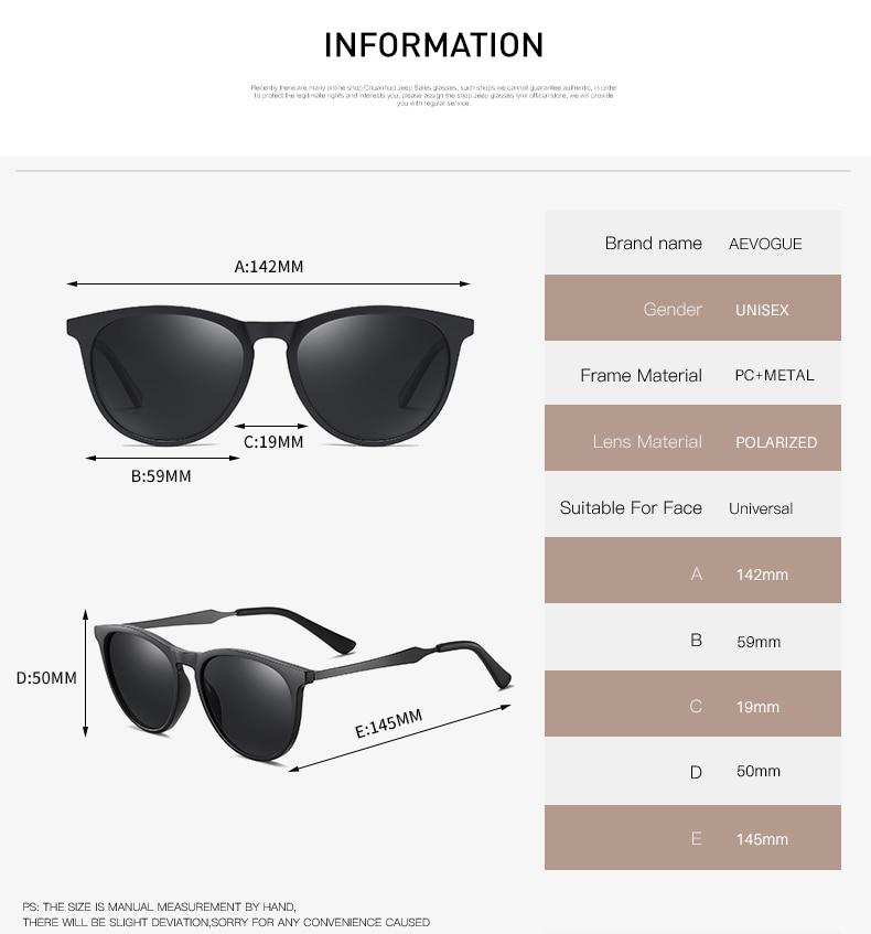 H5471ee16a5f44428b15a470498a2df451 AEVOGUE New Women Polarized Korean Fashion Sunglasses Men Driving Retro Outdoor Glasses Brand Design UV400 AE0816