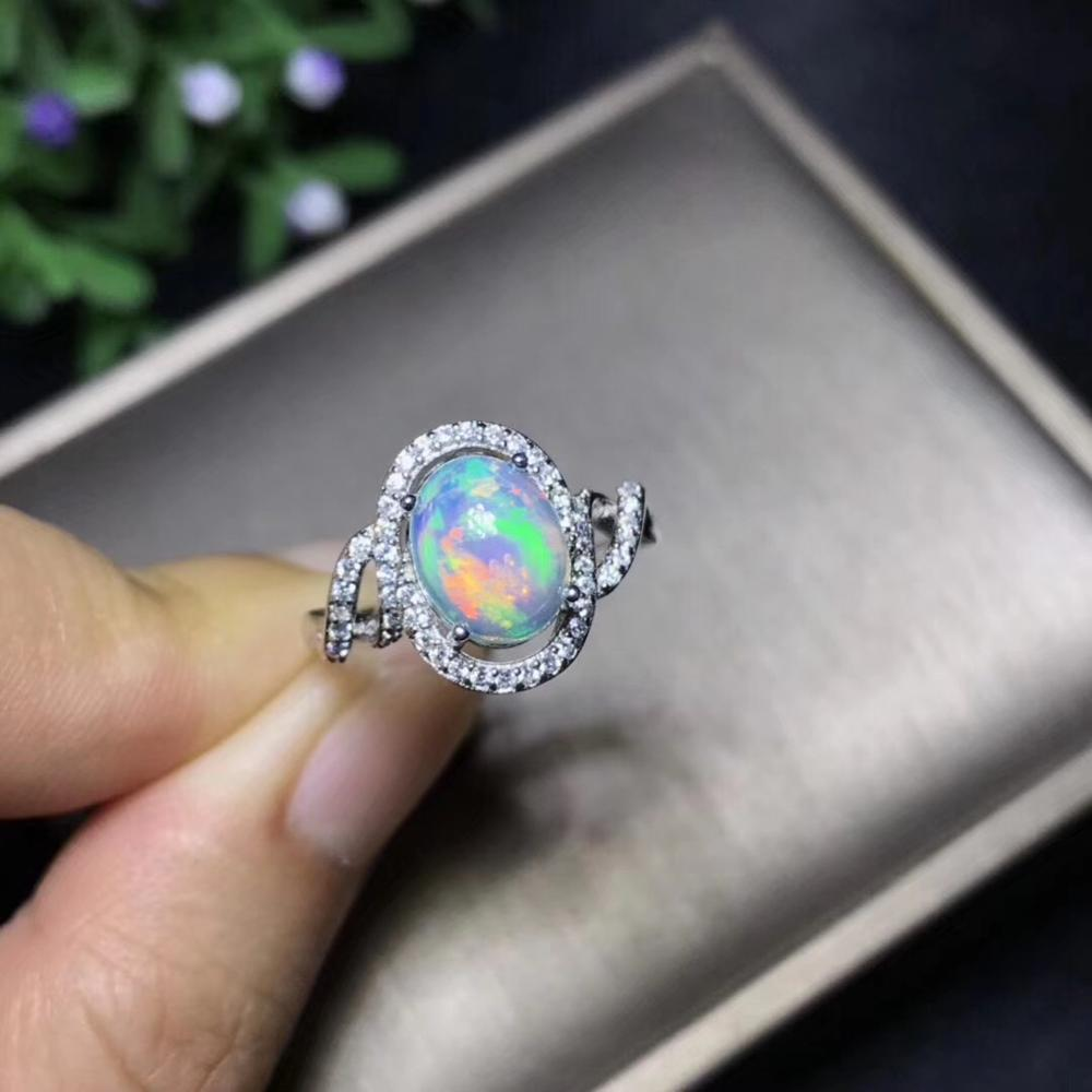 Natural Opal Woman Rings Change Fire Color Mysterious  925 Silver Beautiful Colour Of Gemstones