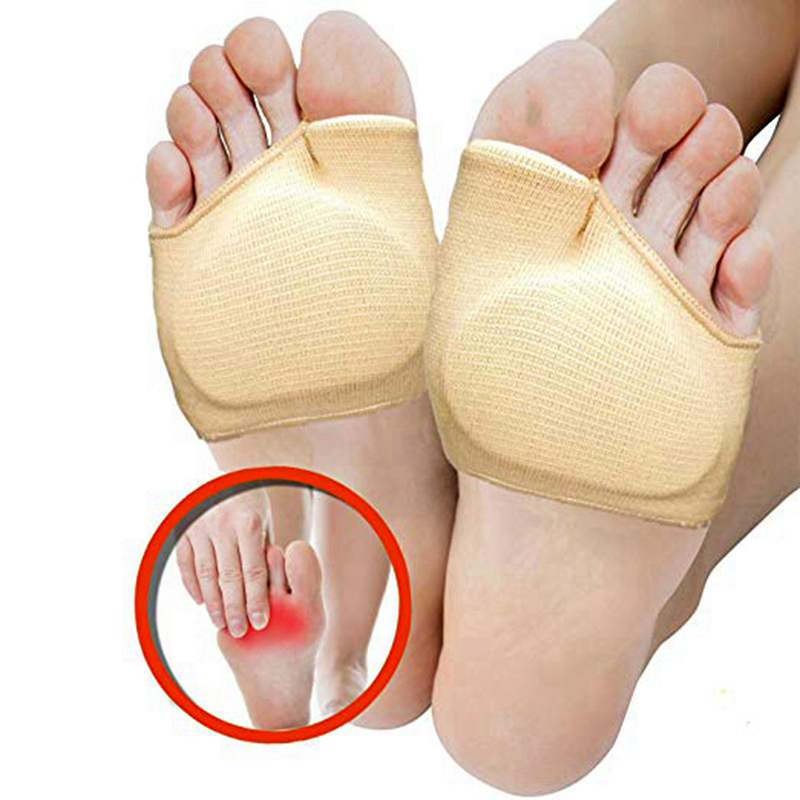 1 Pair Metatarsal Sleeve Pads Half Toe Bunion Sole Forefoot Gel Pads Cushion Half Sock Supports Prevent Calluses Blisters
