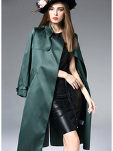 Fall 2019 Trend Coat Women Besign French For Trending Fashion Thin Windbreaker Europe America Solid Long-sleeved