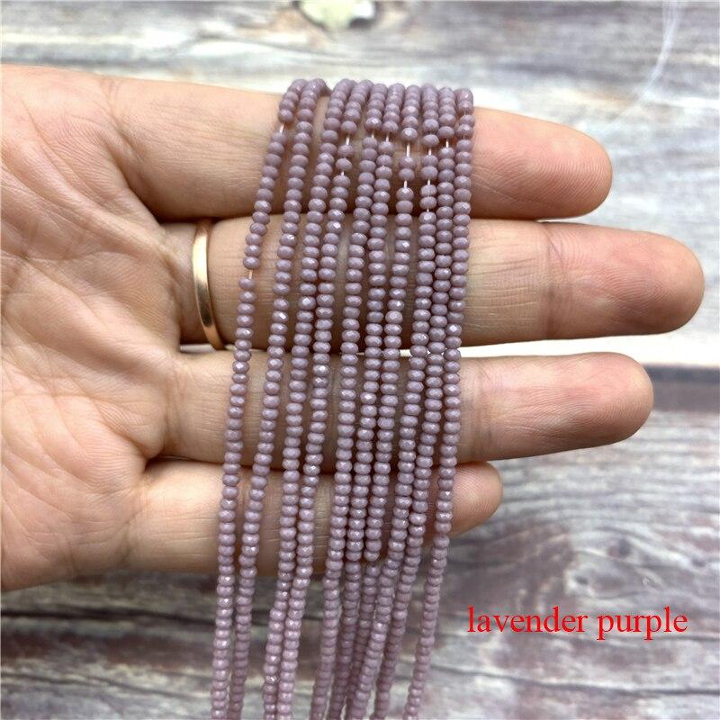 1 нитка 1X2 мм/2X3 мм маленькие хрустальные бусины Rondelle бисер-разделитель маленькие бусины для изготовления ювелирных изделий Diy - Цвет: lavender purple