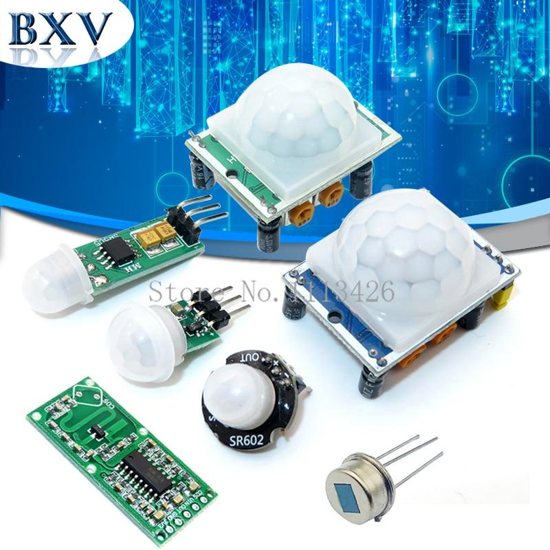 HC SR501 HC SR505 AM312 SR602 Regolare IR Piroelettrico A Infrarossi Mini PIR modulo Sensore di Movimento Modulo del Rivelatore Staffa per arduino|Circuiti integrati|   -