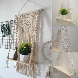 Macrame Knitted Rope Woven Wal