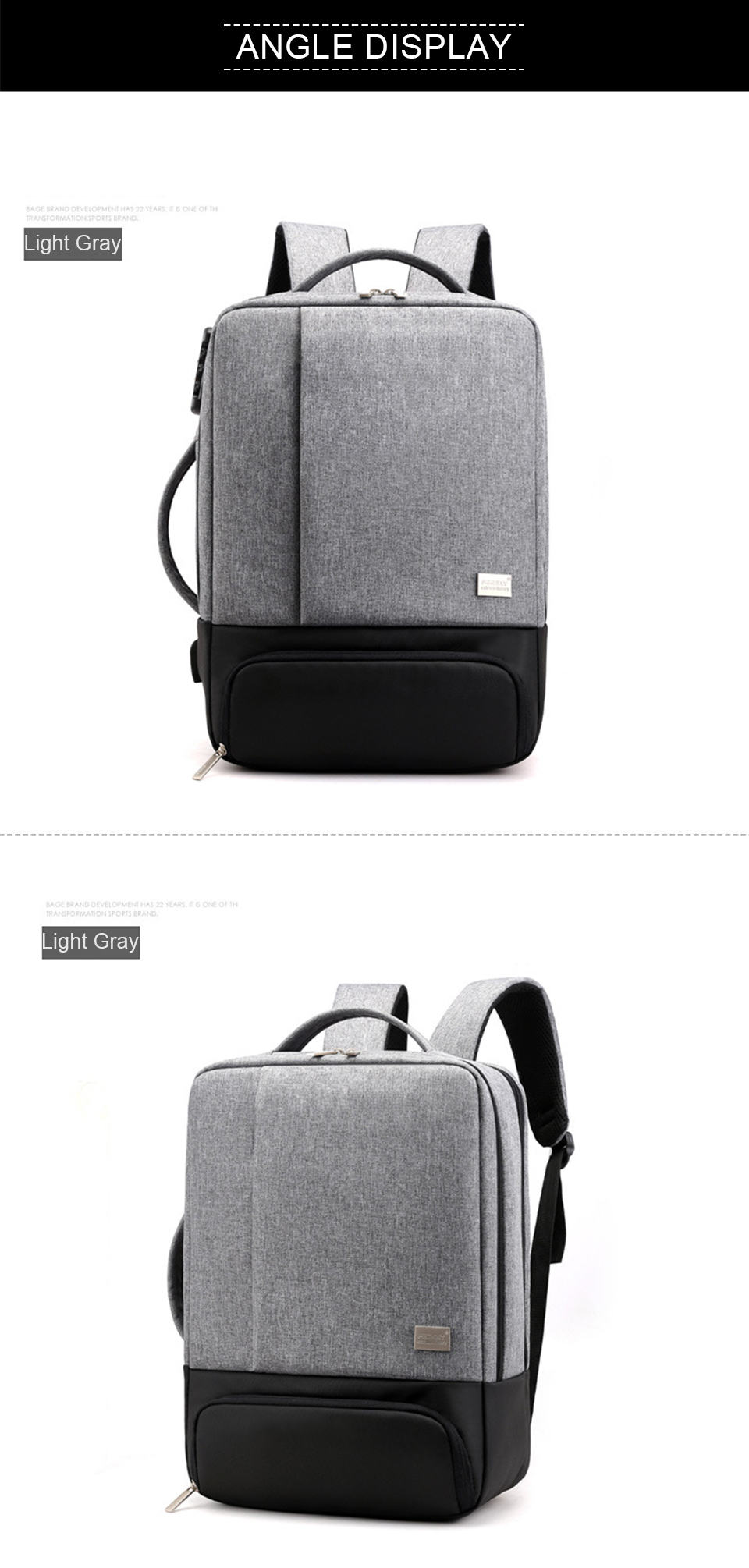 Mens Backpack Laptop Backpacks 17 Inch 15.6'' Anti Theft Male Business Bags Notebook Trip Back Pack Office Women Travel Bagpack (13)