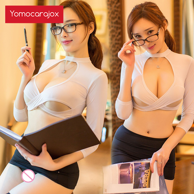 Teacher Cosplay Sexy Lingerie Women Hot Exotic Underwear Sexy Outfit Secretary Uniform Role Playing Set Sex Clothes