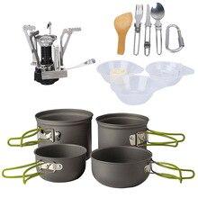 13 шт. набор посуды для кемпинга набор посуды для приготовления пищи дорожная Посуда Столовые приборы посуда походный набор для пикника