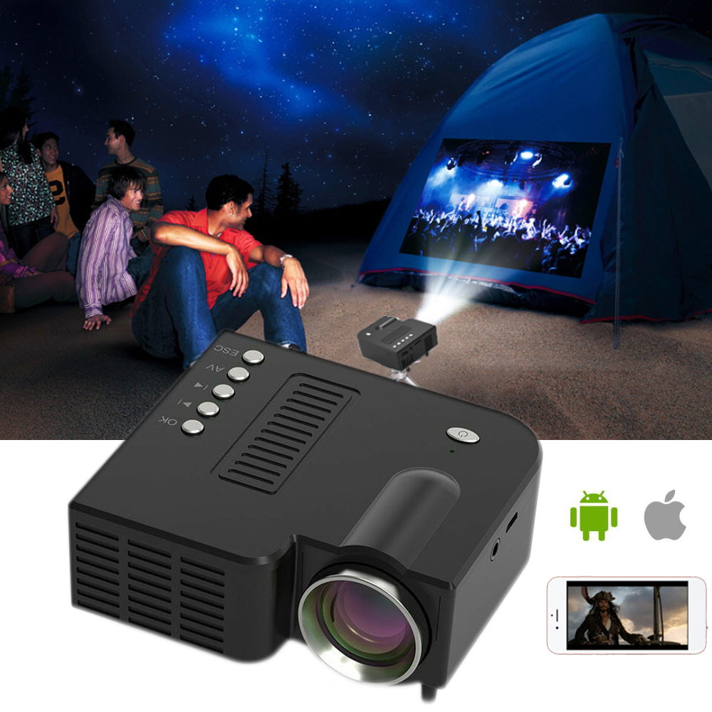Projector Theater Mini Micro Home 1080P HD Entertainment Mobile-Phone Outdoor Portable