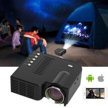 Micro projetor de cinema em casa entretenimento portátil mini projetores suporta 1080p hd ao ar livre conexão do telefone móvel projetores