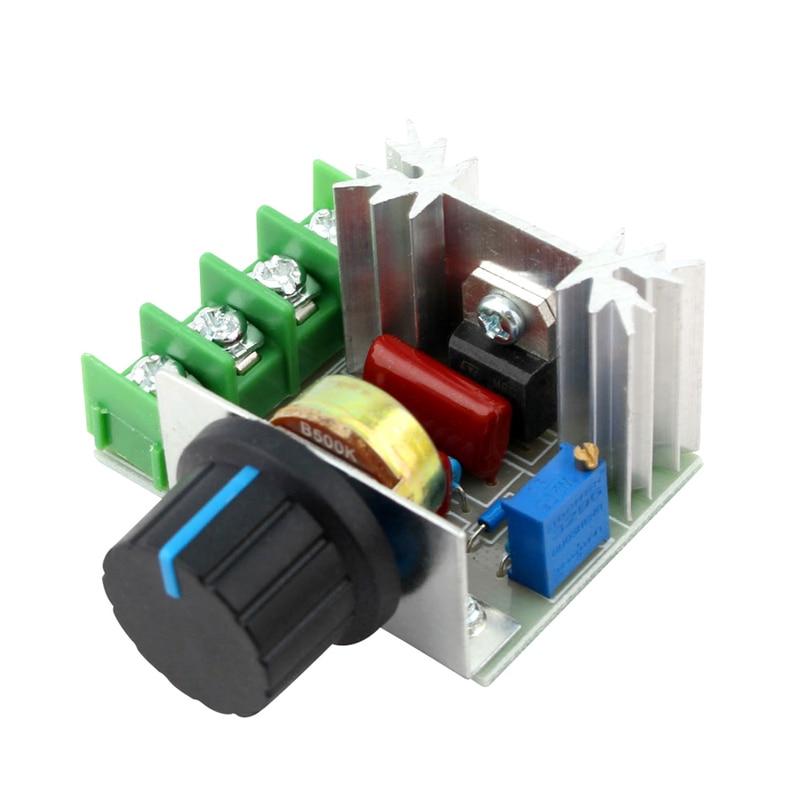 220V Voltage Regulator 2000W SCR Regulator Power Supply Adjustable Power Supply AC 220V LED Dimmer Adjustable Speed Controller