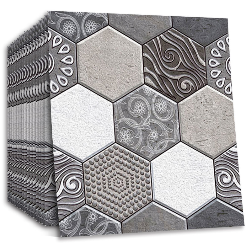 Brick Wallpaper Self Adhesive 3D Wall Sticker Hexagonal Tile for Living Room Bedroom Kitchen Toilet Decals Home Deco Wall Murals