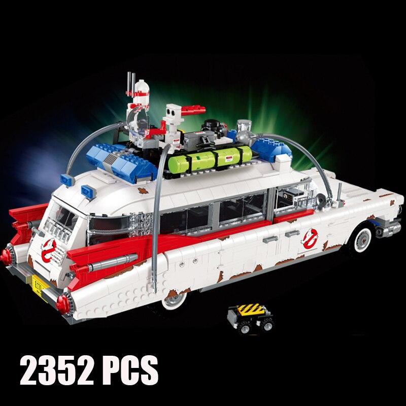 Модель автомобиля Ghost bustersd из сериала фильмов, 50016, 2352 шт., строительные блоки, кирпичи, совместимые с 10274, 810028, игрушки для детей, рождественские подарки 1