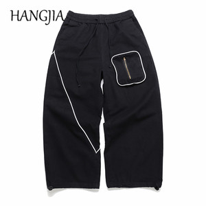 Japan Vintage Wide Leg Pants for Men Women Japanese Streetwear Baggy Men's Trousers Oversize Hip Hop Pants Woman Cotton