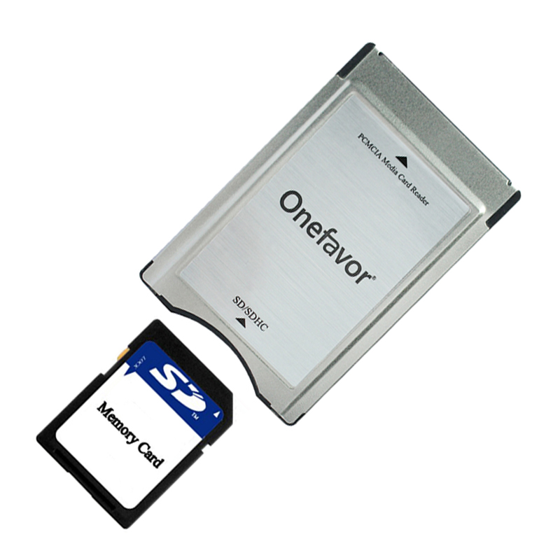 Promotion     SD card adapter onefavor PCMCIA card reader for Mercedes Benz MP3 memory Free shiping