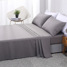 PHF Hot Sale New Product T300 Deep Pocket Bamboo Cotton Solid Color Bed Flat Sheet 1Pcs Bedclothes Queen King Size