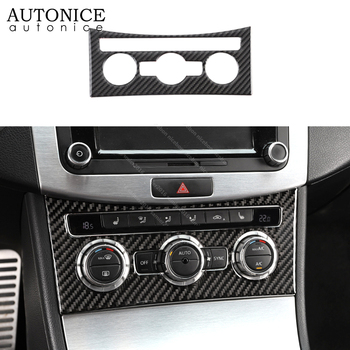Carbon fiber Air Condition rotary switch Panel Control trim Fit For Volkswagen CC 2013-2017 Passat Alltrack Variant 2009-2014