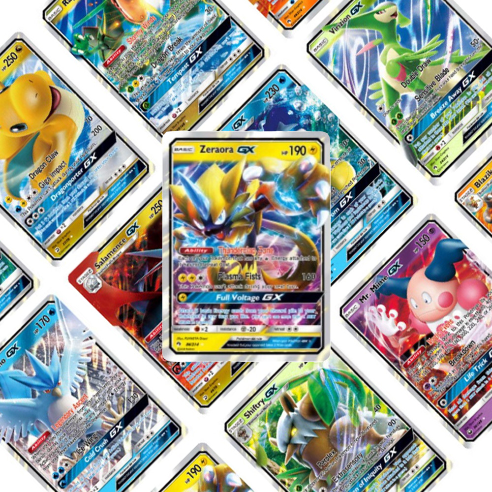 200 Pcs TOMY POKEMONS GX Shining Cards Game Battle Carte Trading Cards Game Children Toy