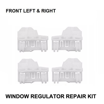 X4 plastikowe klipsy samochodowe do VW Passat B5 1996-2005 zestaw do naprawy regulatora okien-2 pary z przodu z lewej i prawej strony tanie i dobre opinie 10inch 00inch PLASTIC MATEL Okno dźwigni i okna uzwojenia uchwyty Window Lever Window regulator 0 09kg Iso9001 W121-L x2 + W121-R x2