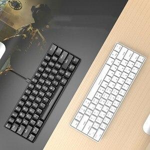 Keybaord mecânico do jogo de ajazz i610t bluetooth 87 teclas wirelss teclado pbt do gamer do duplo-modo para o pc/portátil