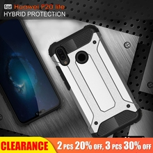 [Clearance] For Huawei P20 Lite Luxury Armor Shockproof Case Pro Soft TPU+Hard PC Full Back Cover