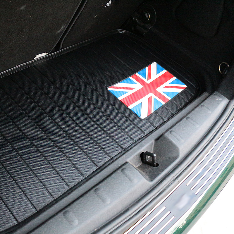 Car boot pad for MINI MINI Accessories 2962ad8412231b7e954c9c: Black gray flag|Black white grid|Logo|Red blue flag