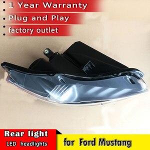 Image 3 - Auto Styling 2015 2018 für Ford Mustang Scheinwerfer LED OEM version Scheinwerfer DRL LED Objektiv Doppel Strahl auto Zubehör