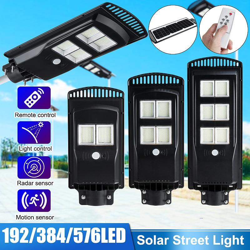 Outdoor Solar Street Light 40W//80W//120W PIR Motion Sensor LED Garden Wall Lamp