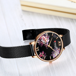 Image 5 - CURRENの新レディース腕時計女性ステンレス鋼ブレスレット腕時計女性のファッションクォーツ時計リロイ mujer カジュアル