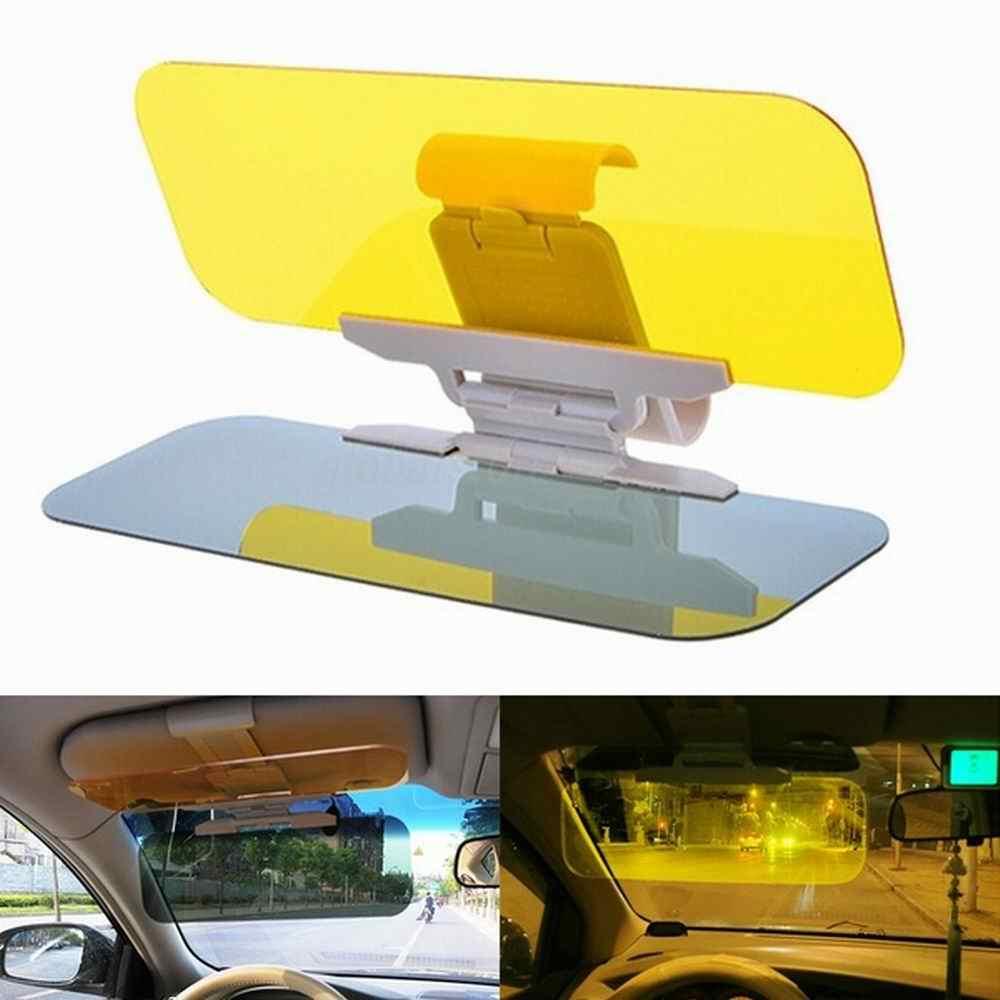 Auto Zonneklep 2 In 1 Dazzling Goggle Dag Nachtzicht Zon Anti-Uv Blok Vizier Anti-Dazzle Zonnescherm Rijden spiegel Clear View