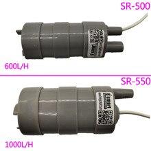 Bomba submersível dc de alta pressão, 5m, 12v, 24v, 600l/h, 1000l/h, micro bomba de corte reto do strass do corte do motor