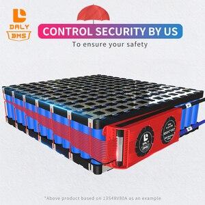 Image 3 - 15S bms LiFePo4 48V 80A 100A 120A 150A 500A 18650 PCM pil koruma levhası BMS dengeli lityum pil modülü fan ile