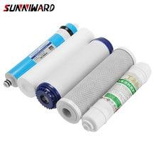 5 bühne Umkehrosmose Ro Wasser Filter Ersatz Set Mit Wasser Filter Patrone 75 Gpd Membran Haushalt Wasserfilter