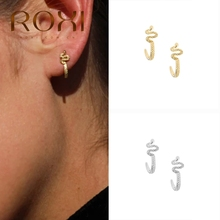 ROXI Cool Snake Dragonfly Beetle Bull Head Pendientes Cartilage Earrings for Women Animal Insect Piercing Stud Earring Jewelry
