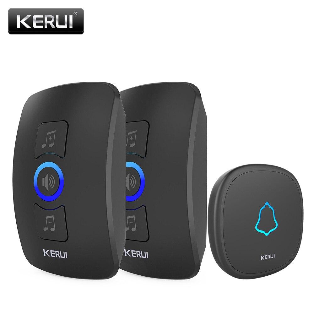 Kerui m525 kit campainha sem fio de segurança em casa inteligente campainha sinos botão toque ao ar livre à prova dwaterproof água super longa transmissão