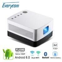 Everycom J20 dlp proyector Full HD 1080p 700 ANSI Lúmenes Android 4K x 2K portátil videojuego educación negocio cine en casa