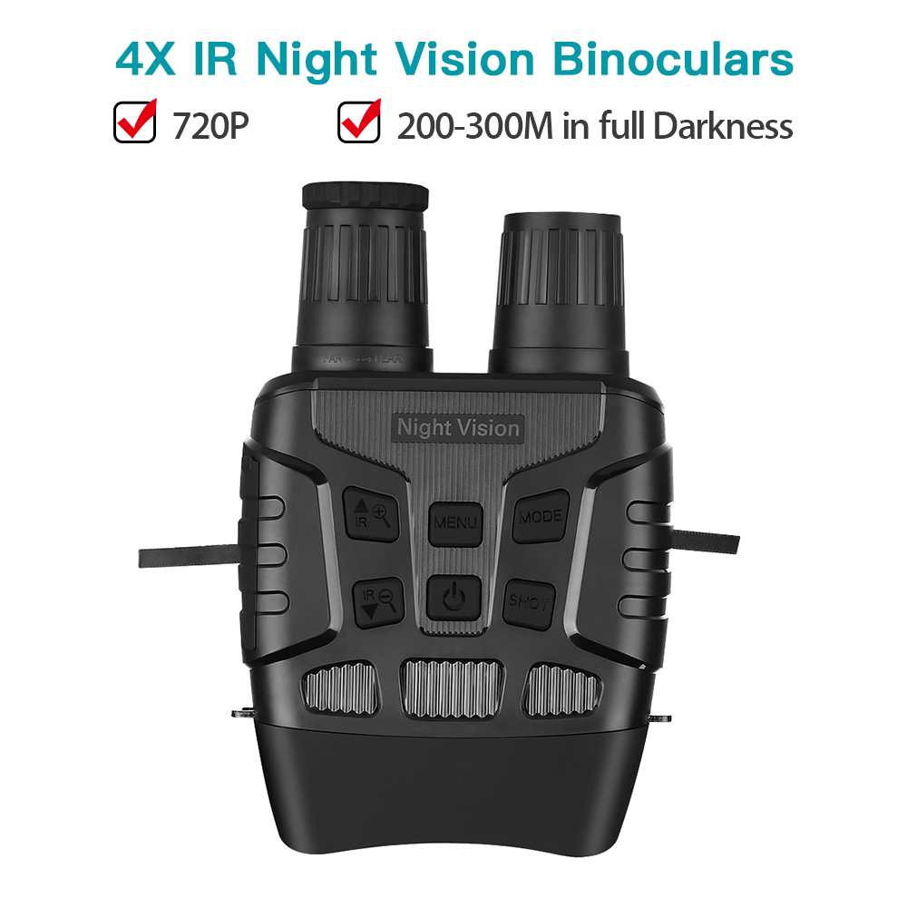 Night Vision Camera HD 720P NV3180 Binoculars 4x Digital Zoom IR Telescope Optics 300M Full Dark Video Recording Hunting Camera