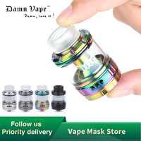 E-Zigarette Zerstäuber Original Damnvape Doom RTA 4ml Verdampfer 26mm 3D Flüssigkeit Fluss Systerm mit Zwei Mesh spulen vs Drop Dead RDA