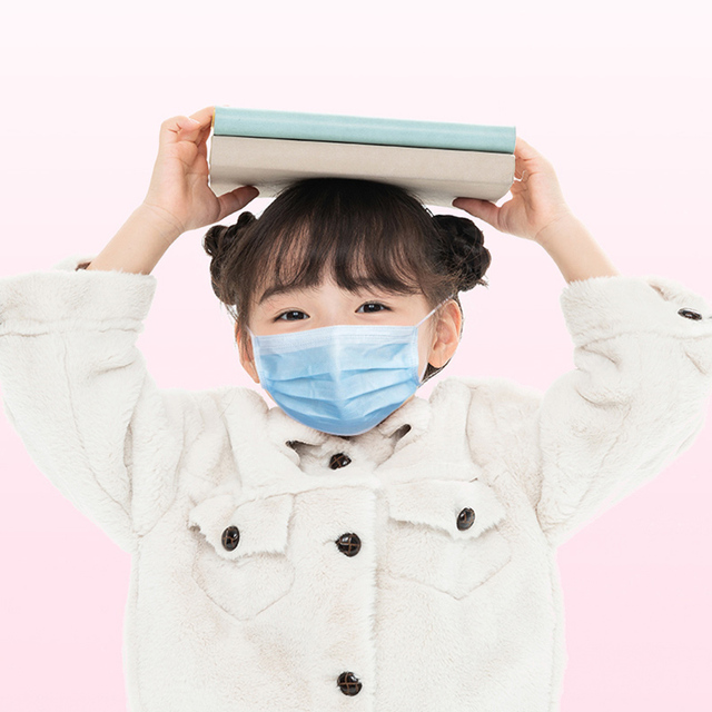 50Pcs 3 layer Child mask Disposable Elastic Mouth Soft BreathableSoft Breathable Flu Hygiene Children's  Kids Face Mask Cartoon 1