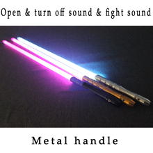 New Cosplay Lightsaber With Led Light Sound Effect Mental Handle Various Colors Avaliable Gift For Children