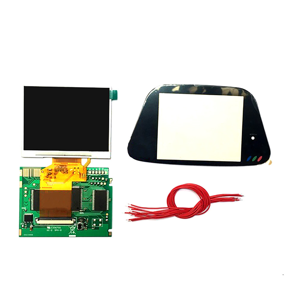 3.5inch Full Display LCD Screen Highlight Screen for Sega Game Gear GG Game Console LCD Display Screen Modification Kit(China)