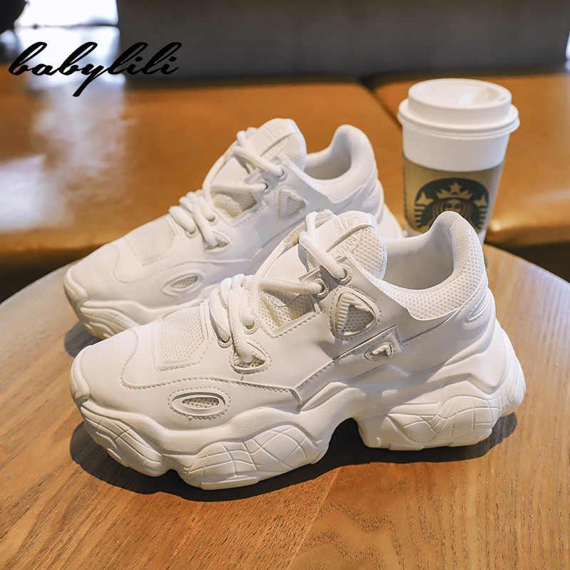 Beyaz kadın rahat kadın platformu nefes 2019 Sneakers kadın moda örgü ayakkabı kadın vulkanize ayakkabı kadın spor ayakkabı