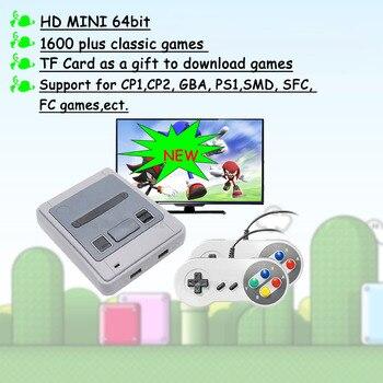 4k HD 64 бит 1600 игр HDMI аркадная видео игровая консоль эмулятор ТВ Портативный Ретро игровой геймпад для Sega для супер Nintendo подарок
