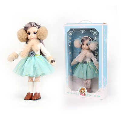 30CM BJD Doll 15 Ball Joints Bjd Dolls With Winter Outfits Dress Girl Princess Gift Make up Girls DIY BJD Toys Best Gift for Kid 9